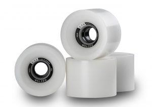 Walzen C.T.D. 70 mm longboard wheels, 80a (Clear-White)