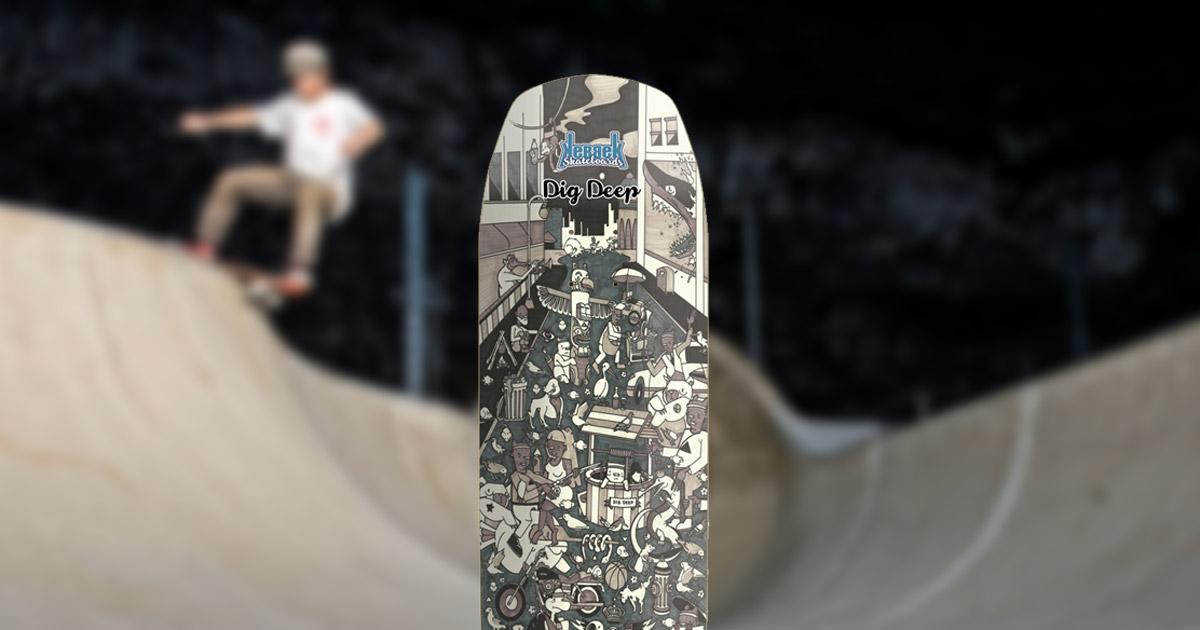 Kebbek Skateboards brings back its roots with the Dig Deep deck