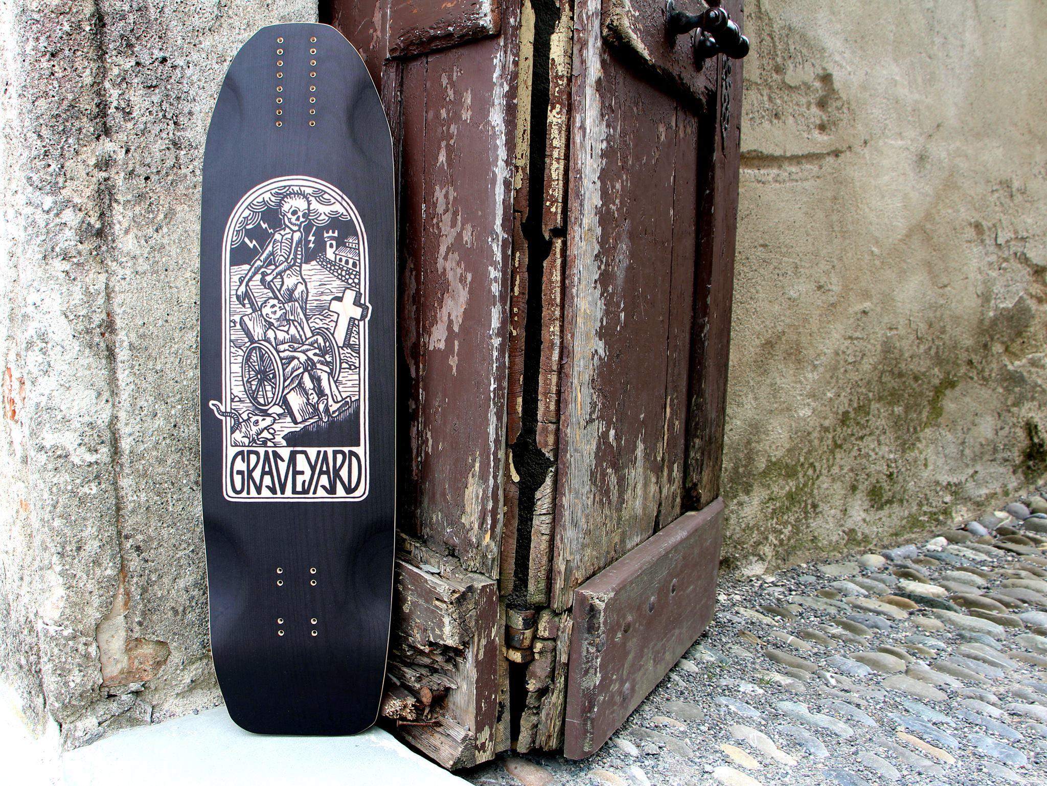 Graveyard Pestilentia longboard deck. Photo by Graveyard Longboards.