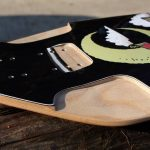 ROCKET Domination longboard deck - Wheel wells and flush mount in the front
