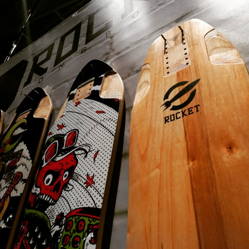 ROCKET Scout (right), one of the new boards shown at ISPO 2017.