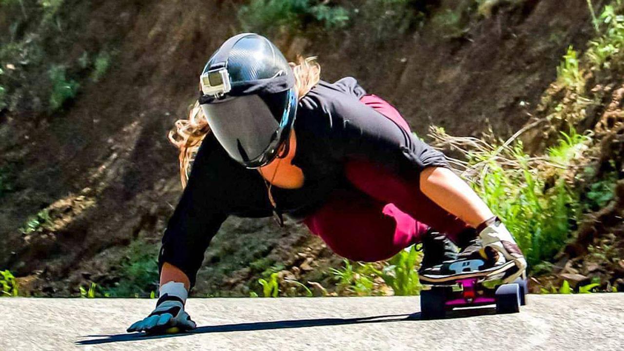 Rachel Bruskoff joins Zero 31 longboards. Photo by Kenny Nap.