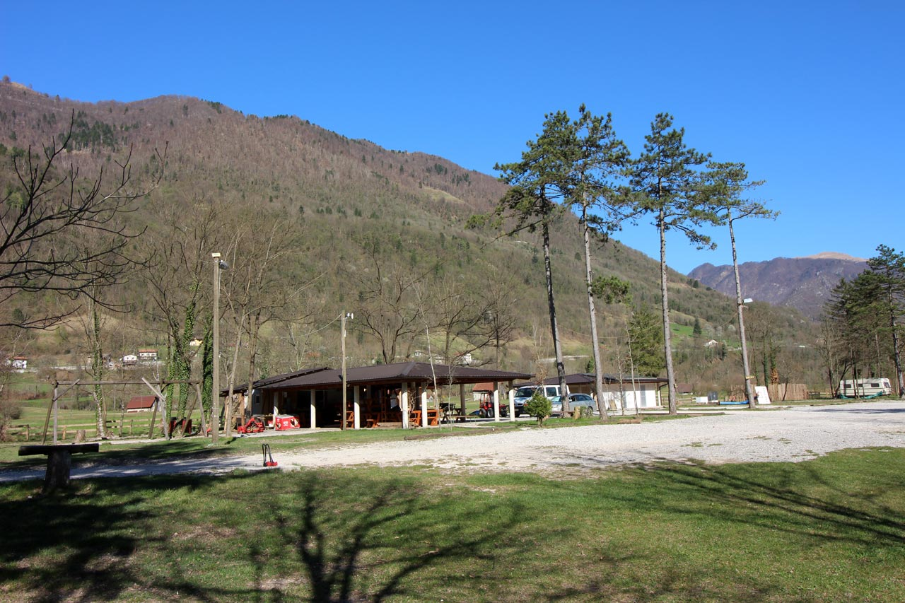 Bar in the Camp Gabrje.