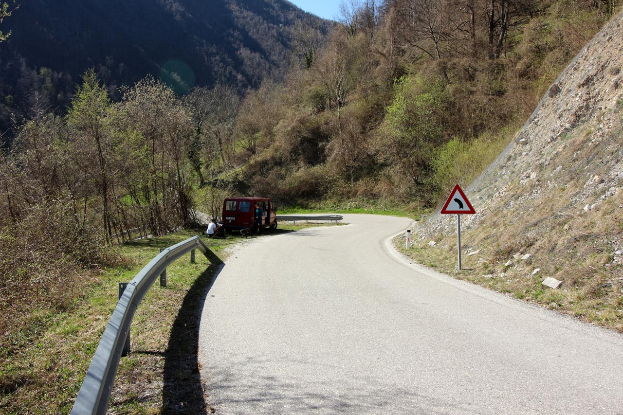 One of 5 hairpins at No Man's Land.